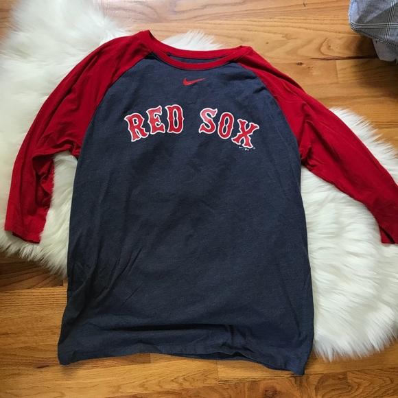 8b70ef9b48504 Nike Baseball Red Sox Boston 3/4 Sleeve Tee Shirt.  M_5b899bd6bf77293449c7ce48